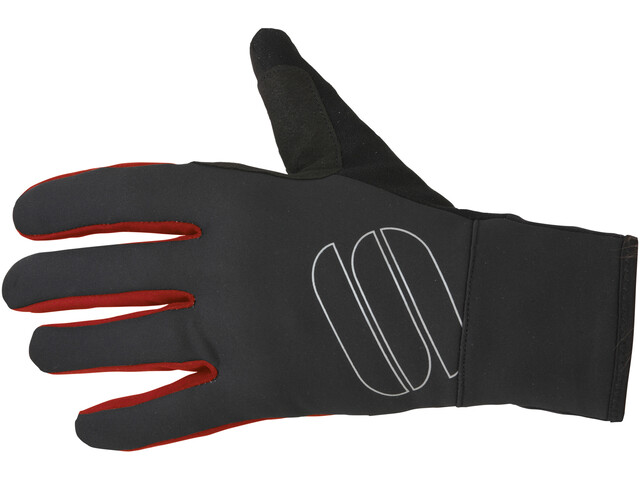 Sportful Softshell Stretch Gloves black/red